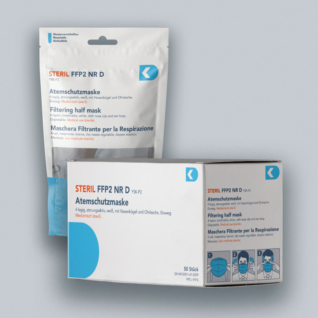 Atemschutzmaske FFP2 NR D – STERIL