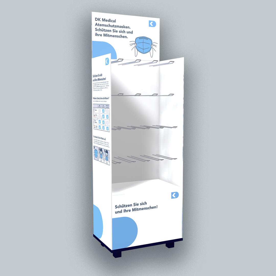 DK Medical Verkaufsdisplay POS Atemschutzmasken