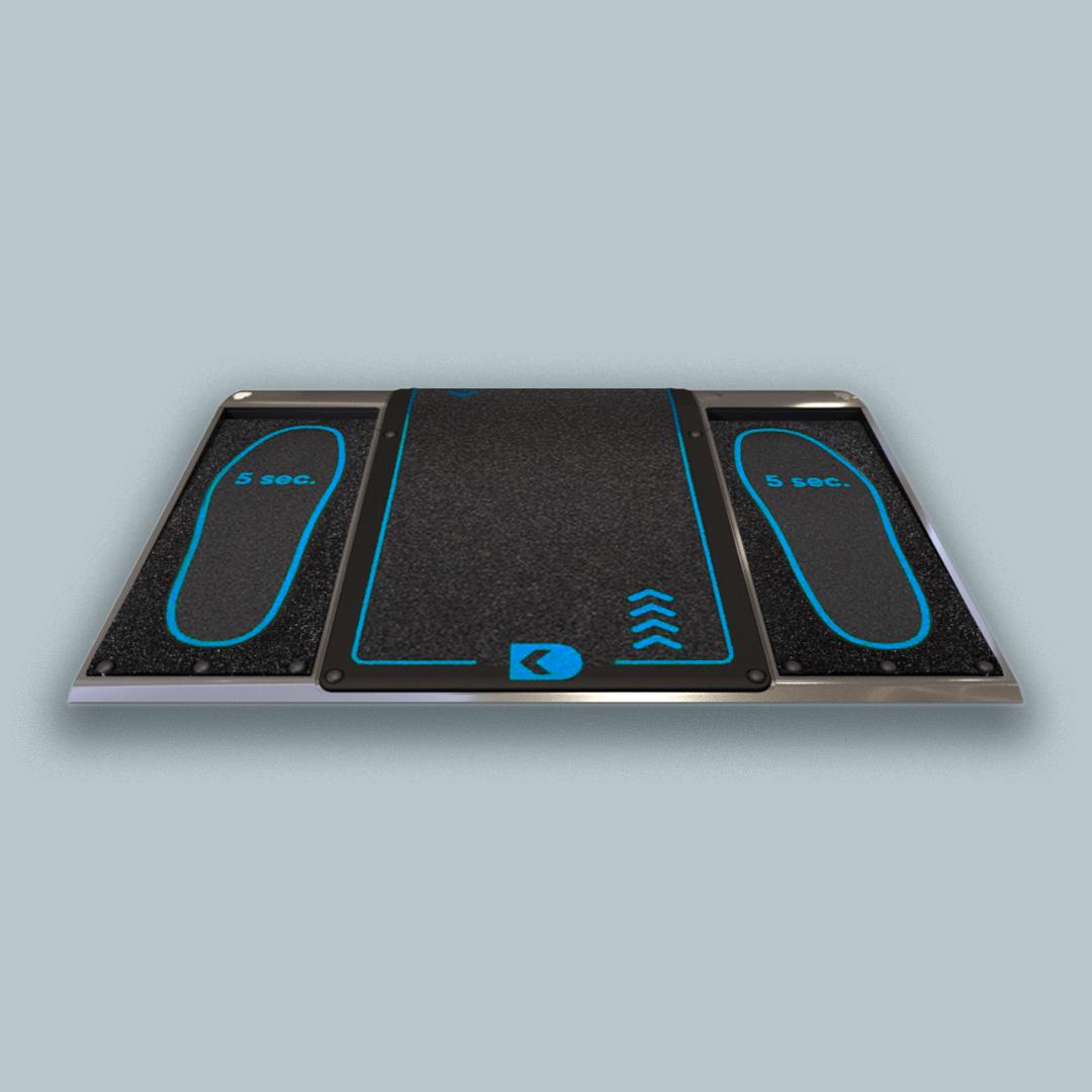Disinfection floor mat