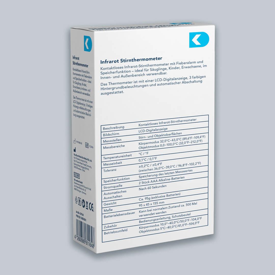 DK Medical Infrarot Stirnthermometer