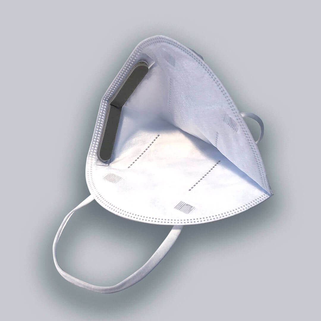 Interior view of the DK medical filtering half mask